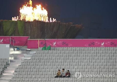 空席だらけの仁川アジア大会の様子