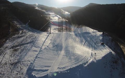 死亡事故多発間違い無しのバ韓国スキー競技場