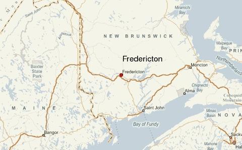 カナダ東部ニューブランズウィック州フレデリクトン