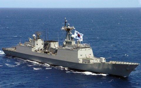 バ韓国の軍艦「文武大王」