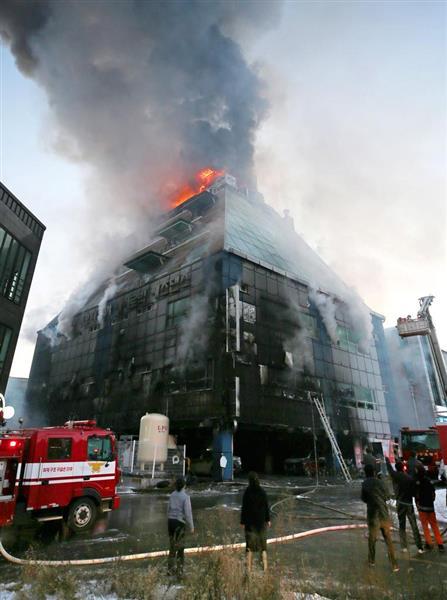 従業員が真っ先に逃げていたバ韓国のビル火災