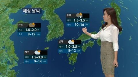 天気予報の再放送が行われるバ韓国