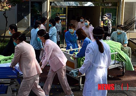 硝酸ガスが発生した警察病院