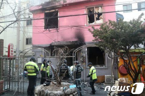 キチガイに放火されたバ韓国・ソウルの旅館