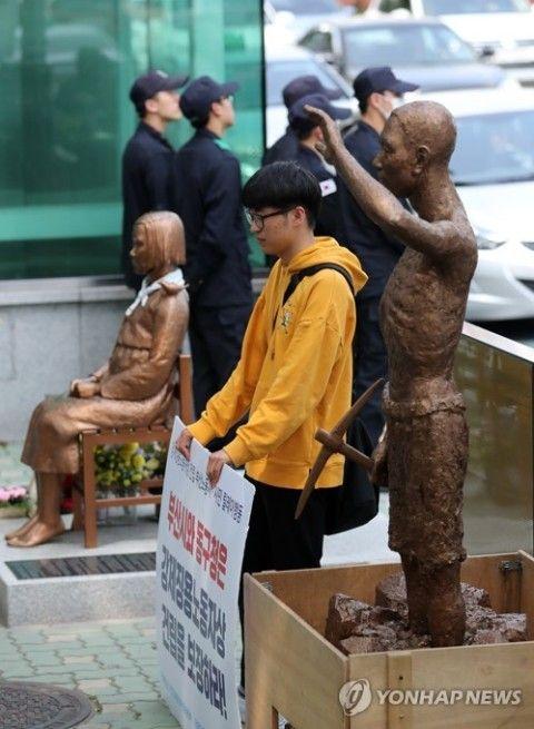 インチキ像を設置するのがバ韓国の文化