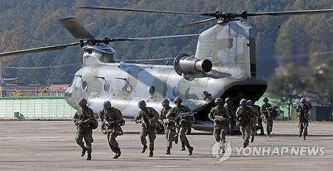 昨年のバ韓国・護国訓練の様子