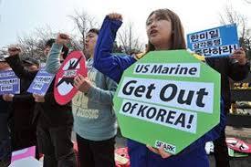 反米デモはバ韓国の日常風景