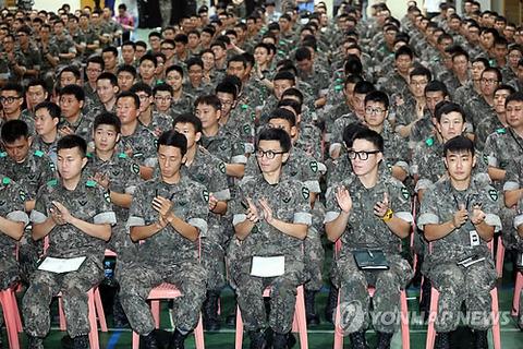 特別教育を受ける韓国軍の屑ども
