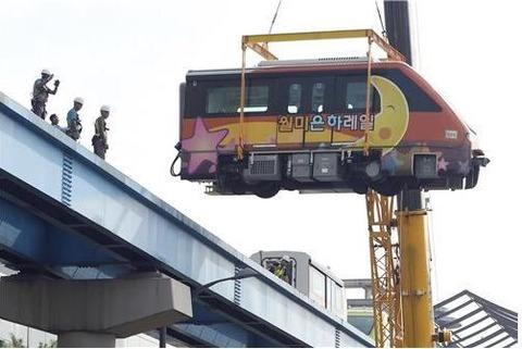 一度も運行されなかったバ韓国のモノレール車両