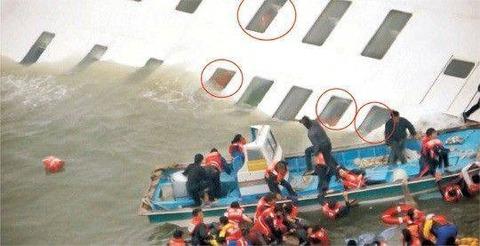 数多くの学生が見殺しにされたセウォル号事故