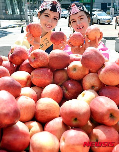 不味そうで臭そうなリンゴと屑バ韓国塵のメスたち