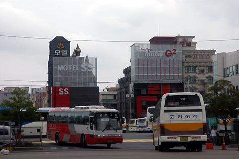 釜山のバスターミナル