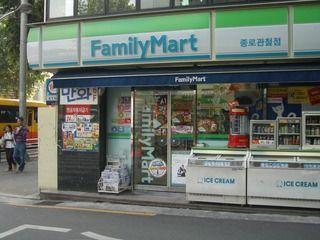 不衛生な雰囲気満載の韓国ファミマ