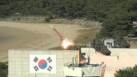 バ韓国のPAC-2航空機迎撃弾が自爆