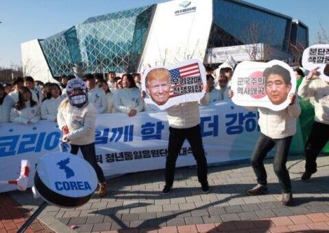 反日反米デモしかやることがないバ韓国塵ども