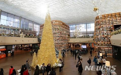 ゲロで作られたようなバ韓国のクリスマスツリー