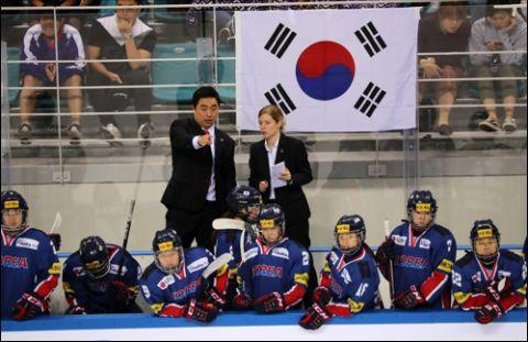 練習を放棄した南北朝鮮合同チーム