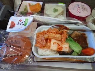 キムチ! アシアナ航空の機内食