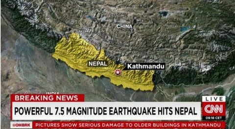 ネパールの地震にバ韓国政府が反応開始