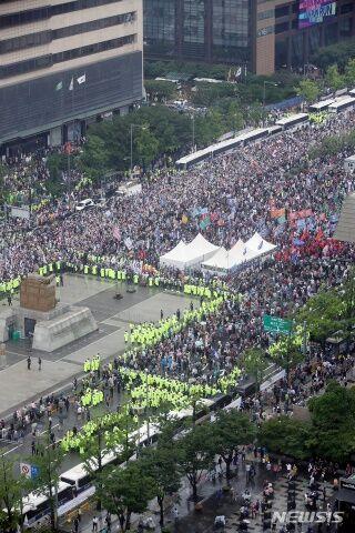 バ韓国保守団体がデモを強行