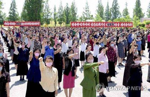 バ韓国に抗議する北チョンのヒトモドキども