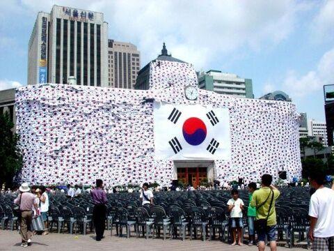 光復節のデモが禁止されたバ韓国