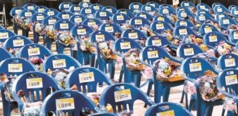 バ韓国・セウォル号犠牲者に送られた卒業証書