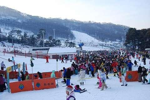 バ韓国のスキー場はとても臭そう