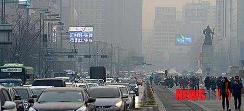 大気汚染著しいバ韓国