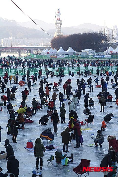 ヤマメ釣りに群がるバ韓国塵ども