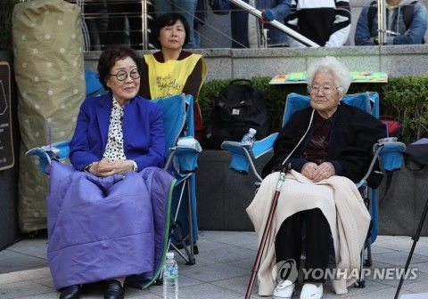 バ韓国の元追軍売春婦の老害2匹