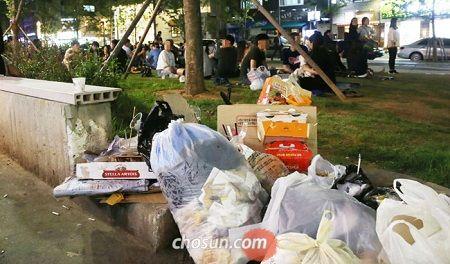 ゴミの悪臭が当たり前になっているバ韓国