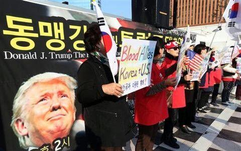 反米デモに熱狂するバ韓国塵ども