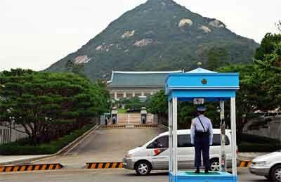 爆破予告されていたバ韓国の青瓦台