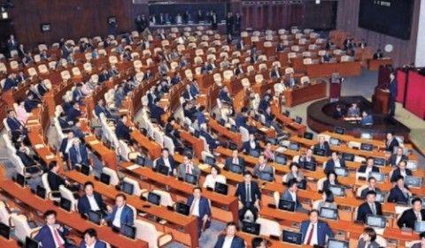 チョ・グクに背中を向けるバ韓国の議員ども