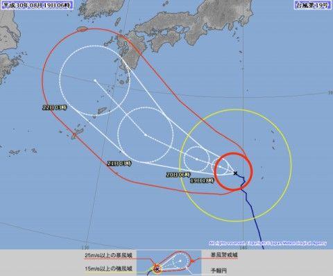 台風の進路が気になるバ韓国塵