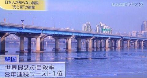 バ韓国の麻浦大橋は自殺スポットwww