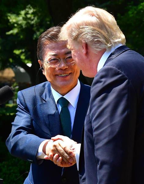 【ついに発狂?】訪米中のバ韓国・文在寅「THAAD配備で中国が干渉してくるのは間違ってるニダ!!」