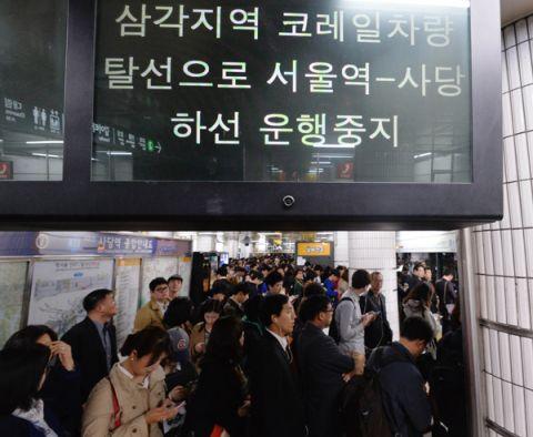 バ韓国の地下鉄車両は走る棺桶
