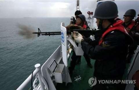 バ韓国海洋警察が中国漁船に機関銃900発を発射