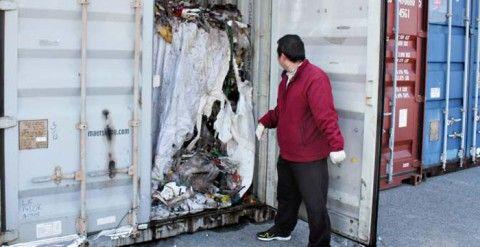 フィリピンからバ韓国に送り返された廃棄物