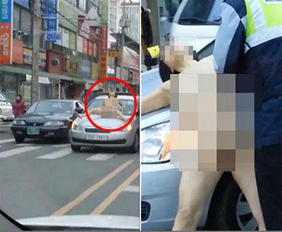 バ韓国では公衆の面前で全裸オナニーが当たり前!?