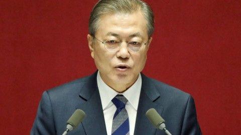 朝鮮半島の赤化を望むバ韓国の文大統領