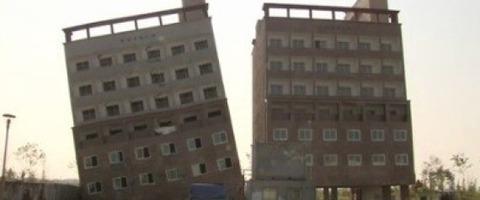震度ゼロでも倒れまくる韓国の建築物