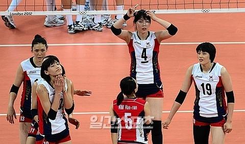 敗戦して責任をなすりつけあうバ韓国の牝バレーチーム