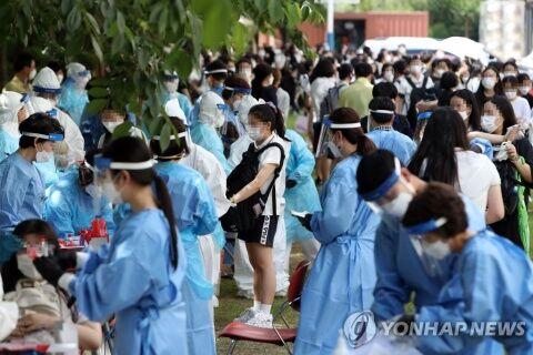 バ韓国の高校で行われた全匹一斉検査