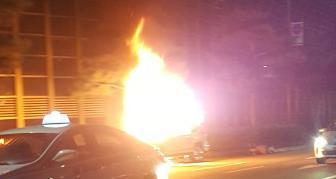 バ韓国での車の火災は日常茶飯事