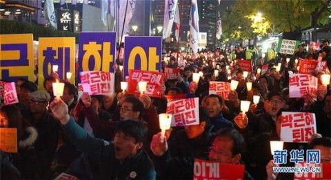 ろうそく集会を世界記録遺産に登録しようとしているバ韓国