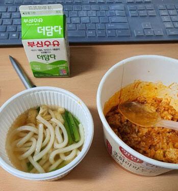 バ韓国・大邱市の病院看護師用の食事です