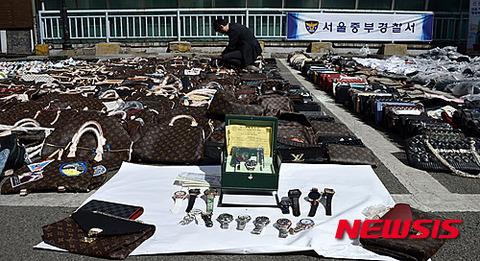 バ韓国ソウル警察署主催のフリマwwww